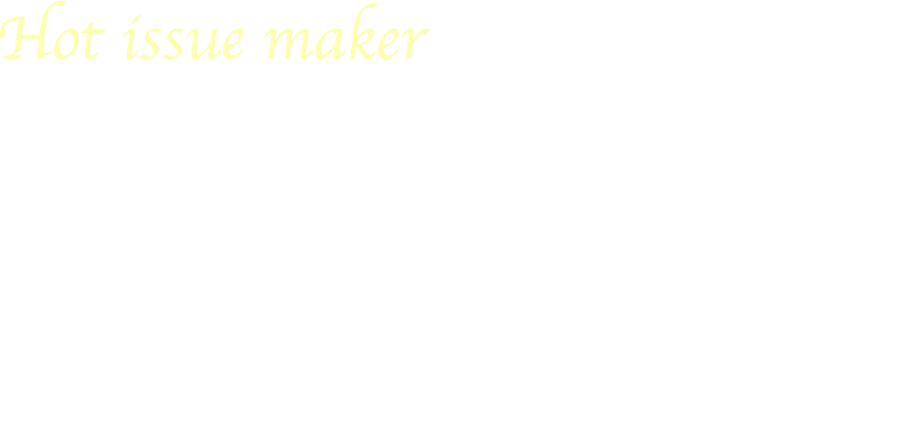 Hot issue maker TRUMP The Biggest News-Face in the world